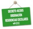 Decreto 40/2005 Ordenación de las Residencias Escolares en la CCAA de Canarias
