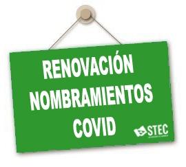 El STEC-IC valora positivamente la ampliación de los contratos COVID hasta final de curso