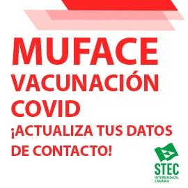 ¡Actualiza tus datos de contacto en MUFACE para campaña de vacunación!
