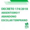 Decreto 174/2018, de 3 de diciembre sobre absentismo y abandono escolar temprano