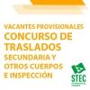 Vacantes provisionales Concurso de Traslados Secundaria, Otros cuerpos e Inspección