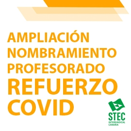 A instancias del STEC-IC, continúa la ampliación de nombramientos de profesorado de refuerzoCOVID