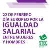 22 de febrero. Día Europeo por la Igualdad Salarial entre Mujeres y Hombres
