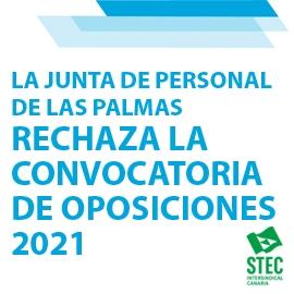 La Junta de Personal Docente de Las Palmas rechaza la convocatoria de las oposiciones 2021