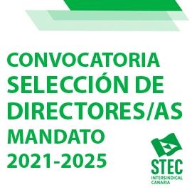 Ampliado el plazo Convocatoria selección de directores y directoras mandato 2021-2025