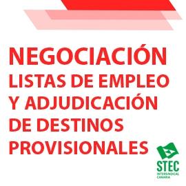 Mesa de Negociación 24-02-2021 Listas de Empleo y Adjudicación de destinos provisionales