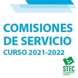 Comisiones de Servicio y Adjudicación de Destinos Provisionales curso 2021-2022