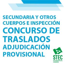 Adjudicación Provisional Concurso General de Traslados 2020-2021: Secundaria y Otros Cuerpos e Inspección