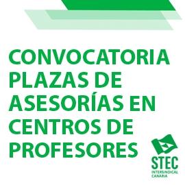 Convocatoria de plazas vacantes de asesorías en los Centros del Profesorado