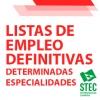 Listas de Empleo: Publicación de las listas definitivas para determinadas especialidades