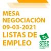 Mesa de Negociación 09-03-2021 Listas de Empleo y propuesta sindical unitaria