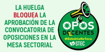 Con un 54% de participación en la huelga, el STEC-IC bloquea hoy la convocatoria de las oposiciones