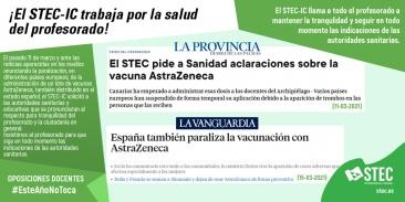 Información oficial del Ministerio de Sanidad sobre la suspensión de la vacuna AstraZeneca