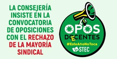 La Consejería insiste en la convocatoria de oposiciones con el rechazo de la mayoría sindical