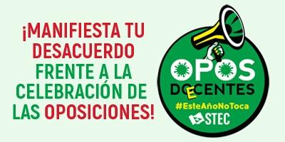 ¡Manifiesta tu desacuerdo frente a la celebración de las oposiciones docentes 2021!