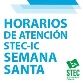 Horario de atención STEC-IC durante la Semana Santa 2021