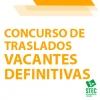 Concurso de Traslados 2020-2021: Vacantes definitivas cuerpo de maestros/as