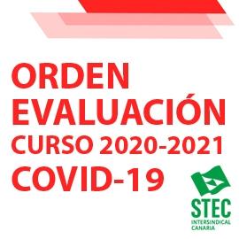 Orden específica de evaluación para el curso 2020-2021 como consecuencia de la COVID-19