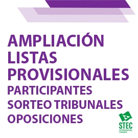 Ampliación Listas provisionales de participantes en el sorteo de vocales para tribunales Oposiciones 2021