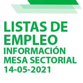Información Mesa Sectorial nueva normativa Listas de Empleo