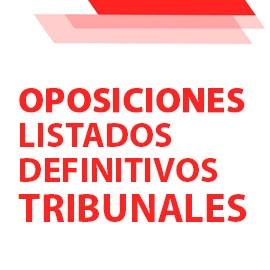 TRIBUNALES OPOSICIONES 2O21: Listas definitivas (corregidas) de participantes en el sorteo de vocales titulares y suplentes