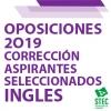 Listas aspirantes seleccionados Oposiciones 2019 del cuerpo de maestros/as, especialidad de inglés