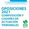 OPOSICIONES 2021: Composición, lugares de actuación de los Tribunales y de las Comisiones de Coordinación