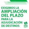 El STEC-IC exige la inmediata ampliación del plazo de solicitudes para la Adjudicación de Destinos