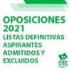 OPOSICIONES 2021: Modificación de las Listas Definitivas de aspirantes admitidos y excluidos