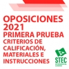 OPOSICIONES 2021: Criterios de calificación, material e instrucciones para la primera prueba