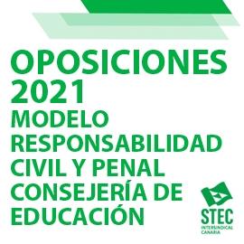 OPOSICIONES 2021: Modelo responsabilidad civil y penal Consejería de Educación