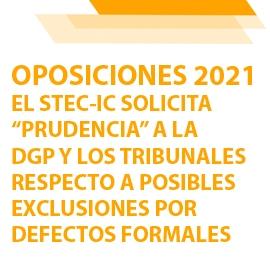 """El STEC-IC solicita a la DGP y a los tribunales """"prudencia"""" respecto a las exclusiones por defectos formales"""