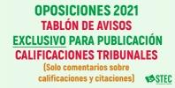 OPOSICIONES 2021: Tablón de anuncios EXCLUSIVO para avisos publicación calificaciones
