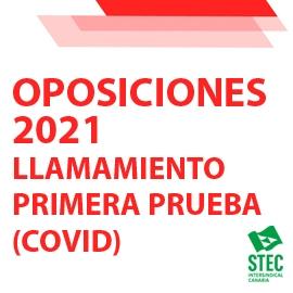 OPOSICIONES 2021: Convocatoria del segundo llamamiento de la primera prueba