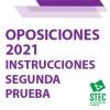 OPOSICIONES 2021: Instrucciones para la realización de la segunda prueba