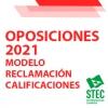 Modelo de Reclamación a las calificaciones de las Oposiciones 2021