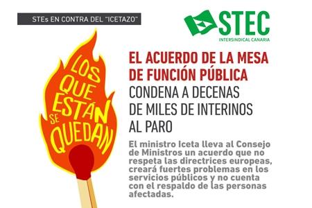 El Gobierno estatal y los sindicatos firmantes del ''Icetazo'' condenan a decenas de miles de interinos al paro
