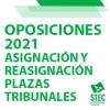 OPOSICIONES 2021: Asignación y reasignación de plazas tribunales