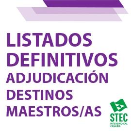Adjudicación definitiva destinos provisionales curso 2021/2022 Cuerpo de Maestros/as