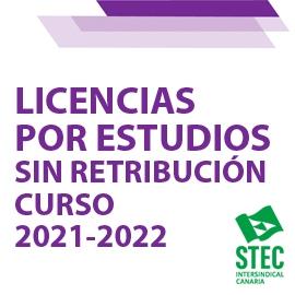 Licencias por estudio sin retribución curso 2021-2022: Listado definitivo admitidos y excluidos