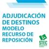 Modelo de Recurso de Reposición a la Adjudicación de destinos definitivos Secundaria y Otros Cuerpos