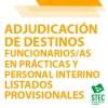 Adjudicación de destinos provisionales Funcionarios/as en Prácticas e Interinos/as Secundaria y Otros Cuerpos