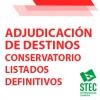Adjudicación definitiva de destinos 2021-2022 Conservatorios