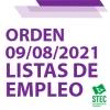 Orden de 9 de agosto de 2021 regulación de las Listas de Empleo en Canarias
