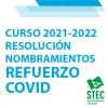 Resolución nombramientos refuerzo COVID curso 2021-2022