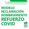 Modelo reclamación fecha de cese Nombramientos COVID curso 2021-2022