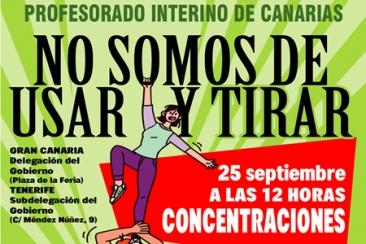 25 de septiembre: Concentraciones contra el Abuso de Temporalidad y el ''Icetazo''