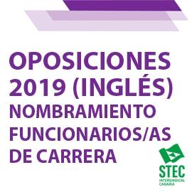 OPOSICIONES 2019: Nombramiento como funcionarios/as de carrera especialidad Inglés