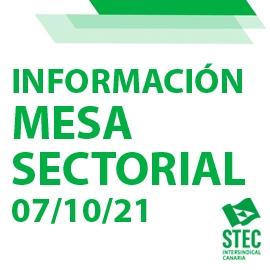 Mesa Sectorial 07/10/21: Calendario de negociaciones