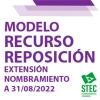 Modelo de Recurso de Reposición ante desestimación reclamación extensión nombramiento curso 2021-2022